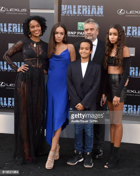 Director Luc Besson wife Virginie BessonSilla and family arrive at the Los Angeles premiere of 'Valerian and the City of a Thousand Planets' at TCL...