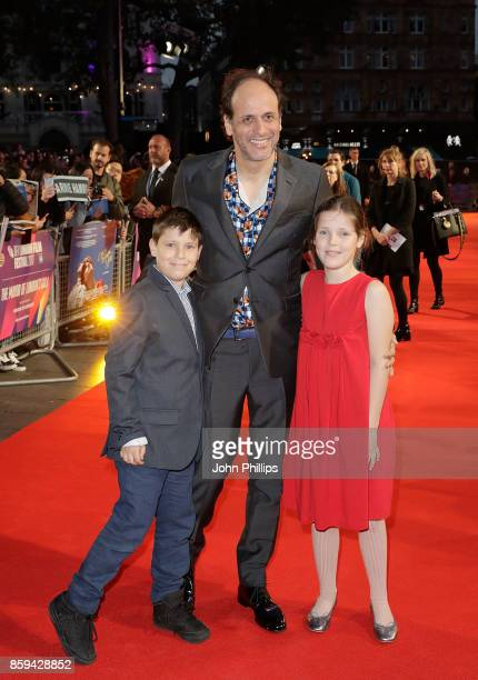 Director Luca Guadagnino and family attend the Mayor Of London Gala UK Premiere of 'Call Me By Your Name' during the 61st BFI London Film Festival on...