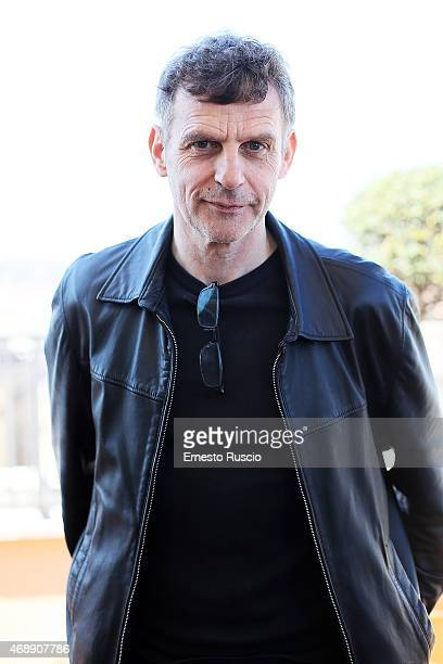 Director Lucas Belvaux attends The 'Sara' Il Mio Tipo' photocall at Hotel Bernini on April 8 2015 in Rome Italy