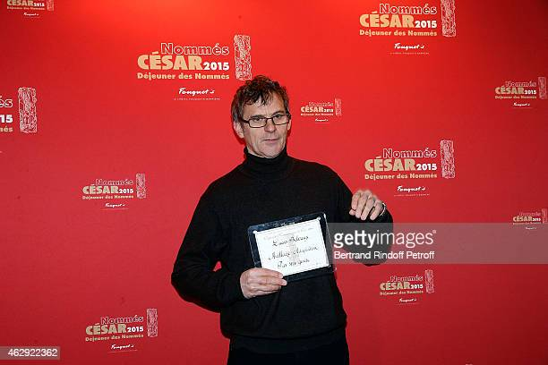 Director Lucas Belvaux Nominate for 'Pas son Genre' attends the Nominee Lunch Cesar 2015 at Le Fouquet's on February 7 2015 in Paris France