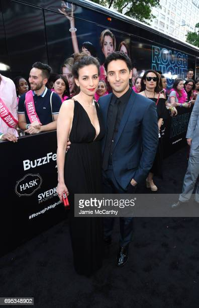 Director Lucia Aniello and Paul W Downs attend New York Premiere of Sony's ROUGH NIGHT presented by SVEDKA Vodka at AMC Lincoln Square Theater on...