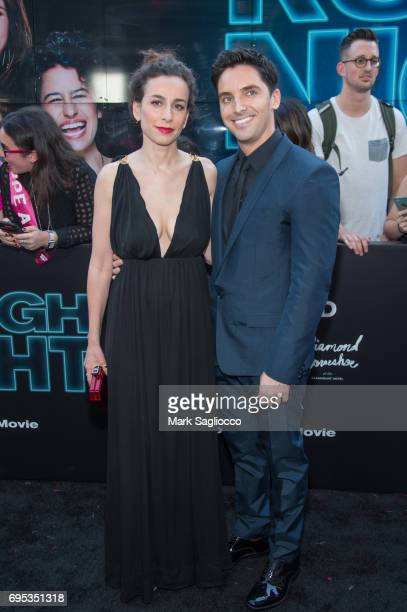 Director Lucia Aniello and Paul W Downs attend the 'Rough Night' New York Premiere at AMC Lowes Lincoln Square on June 12 2017 in New York City