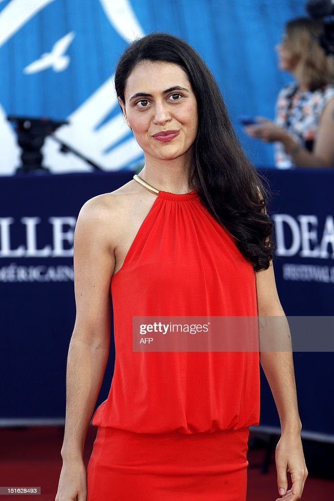 US director Lucy Mulloy poses on the red carpet as she arrives to attend the awarding ceremony off the 38th Deauville's US Film Festival on September 8, 2012 in the French northwestern sea resort of Deauville.