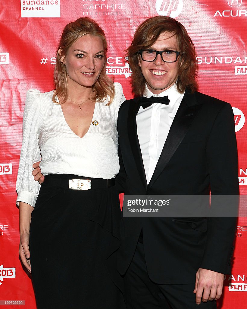 Director Lucy Walker (L) and American snowboarder Kevin Pearce attends 'The Crash Reel' Premiere at Rose Wagner Performing Arts Center on January 18, 2013 in Salt Lake City, Utah.