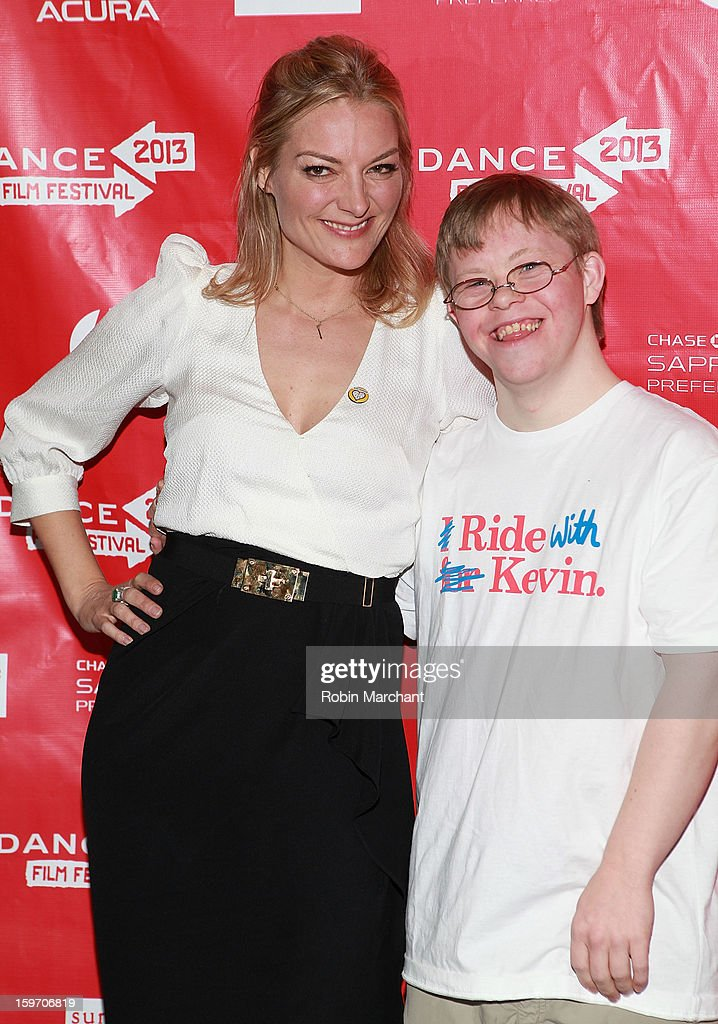 Director Lucy Walker and David Pearce attends 'The Crash Reel' Premiere at Rose Wagner Performing Arts Center on January 18 2013 in Salt Lake City...