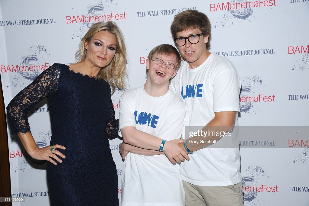 Director Lucy Walker David Pearce and film subject Kevin Pearce attend BAMcinemaFest New York 2013 Screening Of 'The Crash Reel' at BAM Rose Cinemas...