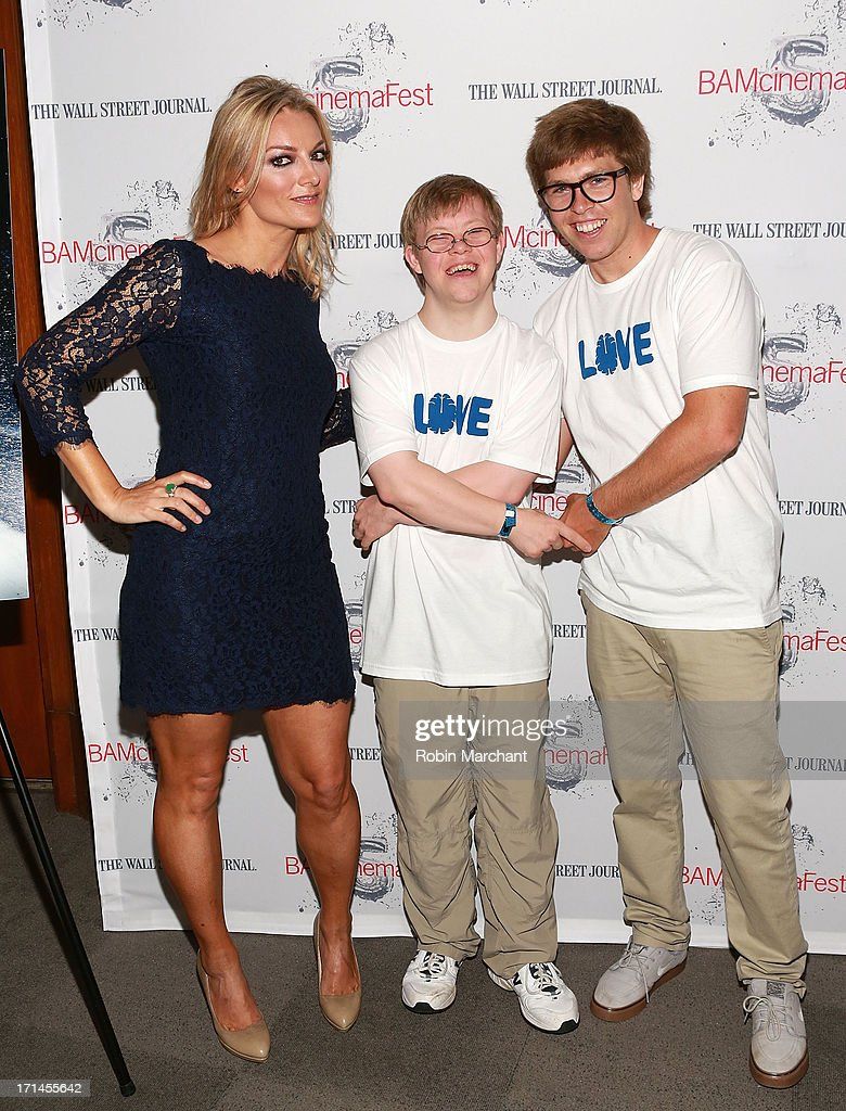 Director Lucy Walker, David Pearce and snowboarder Kevin Pearce attend BAMcinemaFest New York 2013 Screening Of 'The Crash Reel' at BAM Rose Cinemas on June 24, 2013 in New York City.