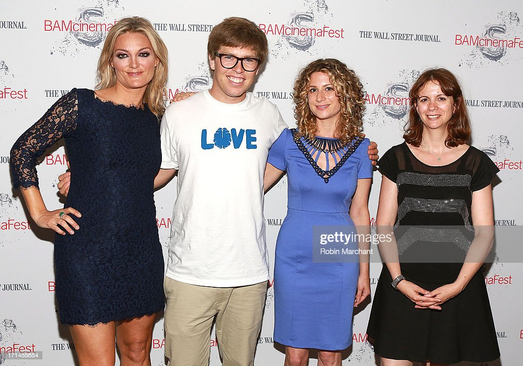 Director Lucy Walker, snowboarder Kevin Pearce, Sara Bernstein and Program Director of BAMcinematek Florence Almozini attend BAMcinemaFest New York 2013 Screening Of 'The Crash Reel' at BAM Rose Cinemas on June 24, 2013 in New York City.