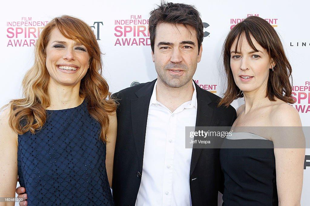 Director Lynn Shelton, actor Ron Livingston and actress Rosemarie DeWitt attend the 2013 Film Independent Spirit Awards at Santa Monica Beach on February 23, 2013 in Santa Monica, California.
