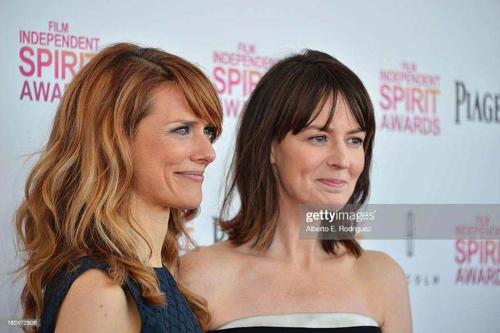 Director Lynn Shelton and actress Rosemarie DeWitt attend the 2013 Film Independent Spirit Awards at Santa Monica Beach on February 23, 2013 in Santa Monica, California.