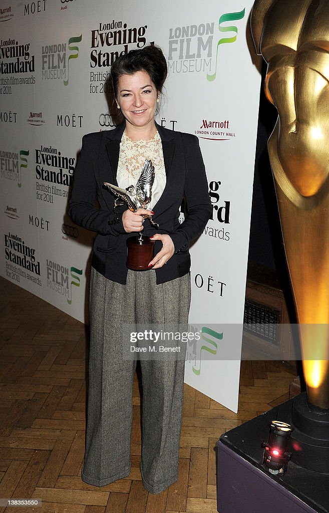 Director Lynne Ramsay with the award for Best Film given to her film 'We Need To Talk About Kevin' attends the London Evening Standard British Film...