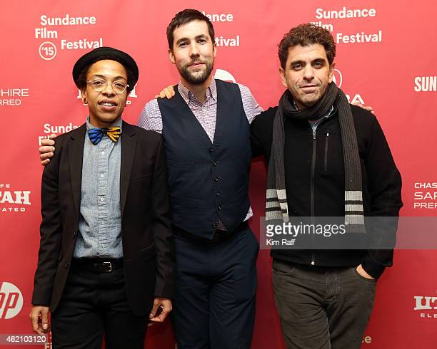 Director Lyric R Cabral director David Felix Sutcliffe and Eugene Jarecki attend the 'ERROR' Premiere during the 2015 Sundance Film Festival at the...