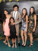 Director M Night Shyamalan and family attend Columbia Pictures and MercedesBenz Present the US Red Carpet Premiere of AFTER EARTH at Ziegfeld Theatre...