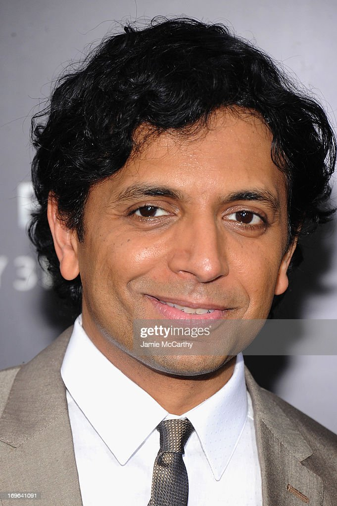Director <a gi-track='captionPersonalityLinkClicked' href=/galleries/search?phrase=M.+Night+Shyamalan&family=editorial&specificpeople=227417 ng-click='$event.stopPropagation()'>M. Night Shyamalan</a> attends Columbia Pictures and Mercedes-Benz Present the US Red Carpet Premiere of AFTER EARTH at Ziegfeld Theatre on May 29, 2013 in New York City.