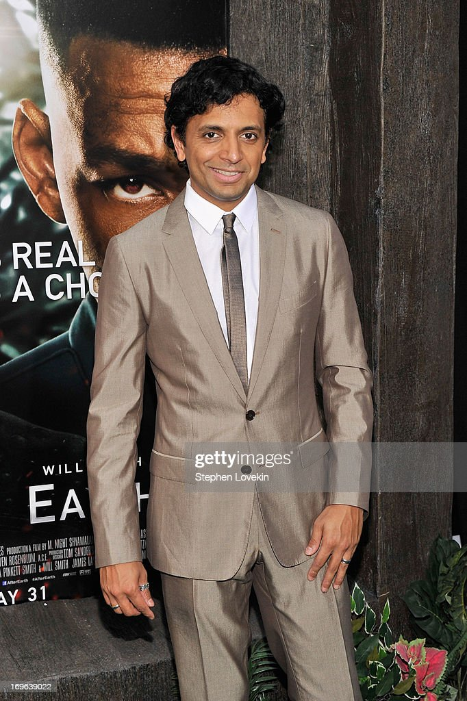 Director M. Night Shyamalan attends the 'After Earth' premiere at the Ziegfeld Theater on May 29, 2013 in New York City.