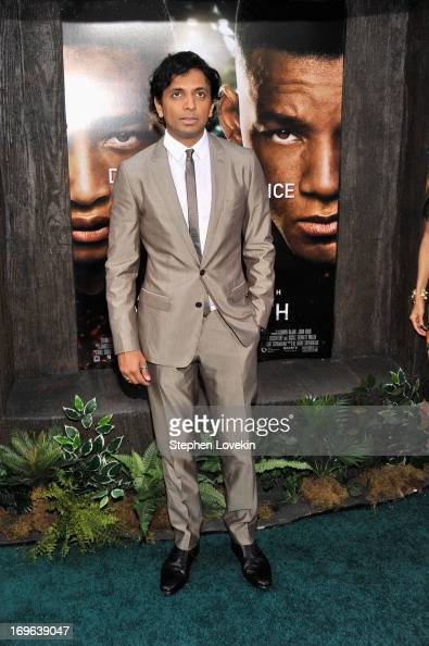 Director M Night Shyamalan attends the 'After Earth' premiere at the Ziegfeld Theater on May 29 2013 in New York City
