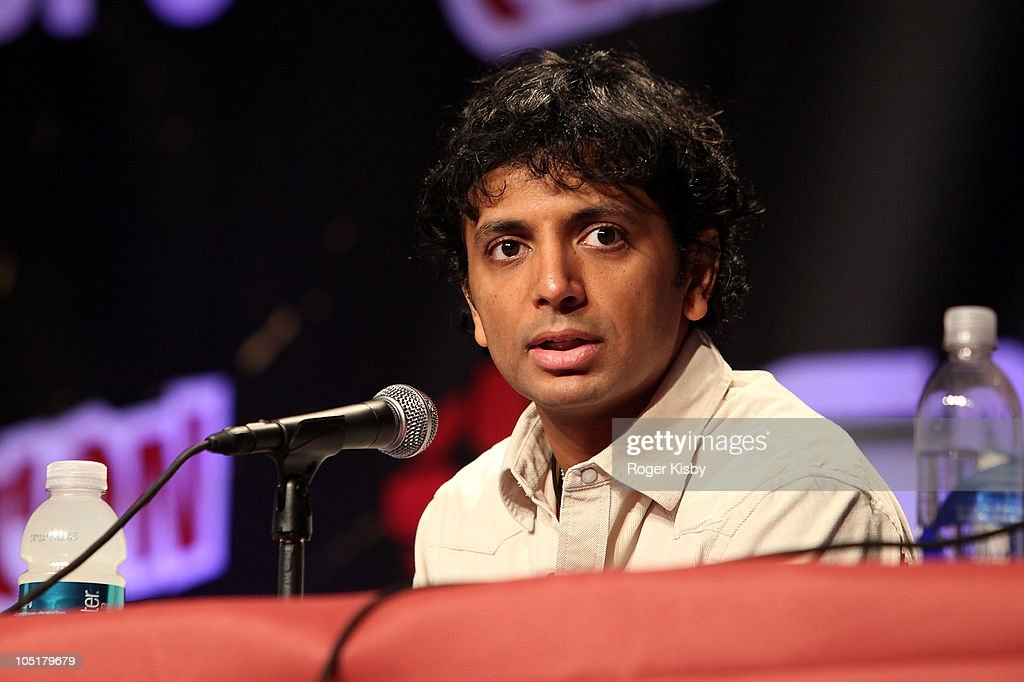 Director <a gi-track='captionPersonalityLinkClicked' href=/galleries/search?phrase=M.+Night+Shyamalan&family=editorial&specificpeople=227417 ng-click='$event.stopPropagation()'>M. Night Shyamalan</a> attends the 'Unbreakable: Ten Years Later' panel at the 2010 New York Comic Con at the Jacob Javitz Center on October 10, 2010 in New York City.