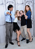Director M Night Shyamalan Olivia DeJonge Ed Oxenbould and Kathryn Hahn attend AOL BUILD Speaker Series 'The Visit' at AOL Studios In New York on...