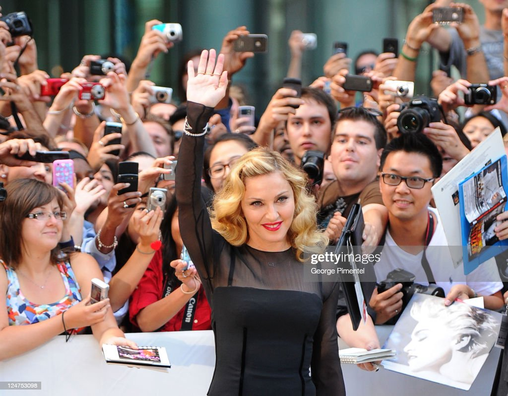 Director <a gi-track='captionPersonalityLinkClicked' href=/galleries/search?phrase=Madonna+-+Singer&family=editorial&specificpeople=156408 ng-click='$event.stopPropagation()'>Madonna</a> arrives at 'W.E.' Premire at TIFF Bell Lightbox during the 2011 Toronto International Film Festival on September 12, 2011 in Toronto, Canada.