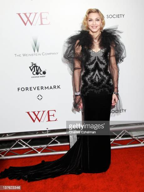Director Madonna attends The Weinstein Company with The Cinema Society Forevermark premiere of 'WE' at the Ziegfeld Theater on January 23 2012 in New...