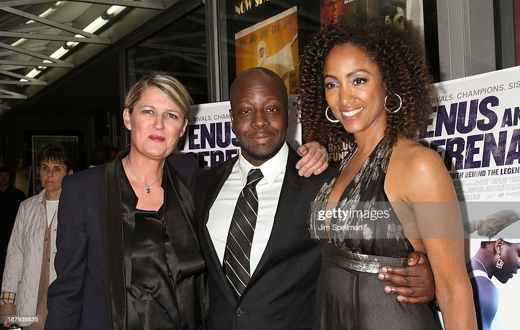 Director Maiken Baird, rapper <a gi-track='captionPersonalityLinkClicked' href=/galleries/search?phrase=Wyclef+Jean&family=editorial&specificpeople=171115 ng-click='$event.stopPropagation()'>Wyclef Jean</a> and Michelle Major attend the 'Venus And Serena' New York Screening at IFC Center on May 2, 2013 in New York City.