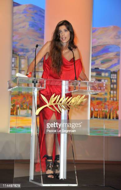 Director Maiwenn Le Besco accepts her Jury Prize Award for 'Polisse' attends the Closing Ceremony at the Palais des Festivals during the 64th Cannes...