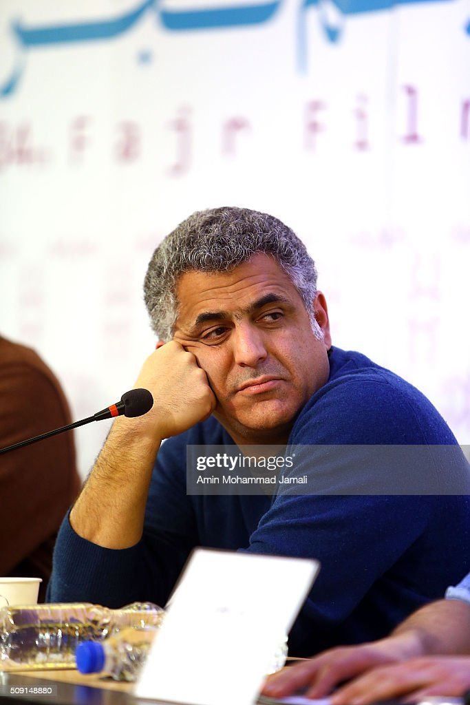 Director Mani Haghighi attends a press conference as part of the 34rd Fajr International Film Festival on during the Fajr Film Festival on February 9, 2016 in Tehran, Iran.