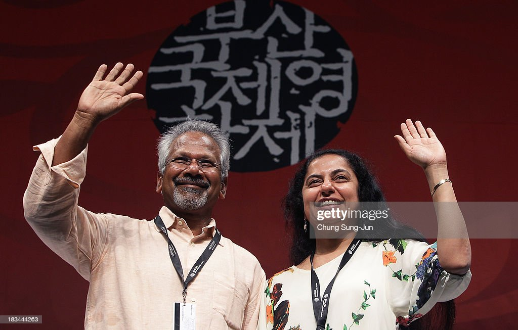 Director <a gi-track='captionPersonalityLinkClicked' href=/galleries/search?phrase=Mani+Ratnam&family=editorial&specificpeople=3030163 ng-click='$event.stopPropagation()'>Mani Ratnam</a> and producer Suhashini Maniratnam attend the Gala Presentation 'Kadal' at the Shinsegae Centumcity cultural hall during the 18th Busan International Film Festival (BIFF) on October 6, 2013 in Busan, South Korea. The biggest film festival in Asia showcases 299 films from 70 countries and runs from October 3-12.