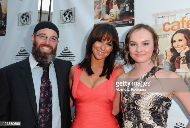 Director Marc Erlbaum actress Jennifer Love Hewitt and actress Madeline Carroll arrive to the premiere of Maya Entertainment's 'Cafe' on August 18...