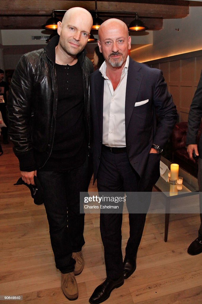 Director Marc Forster and designer Domenico Vacca attend the Domenico Vacca Spring 2010 presentation at the Soho House on September 12, 2009 in New York City.