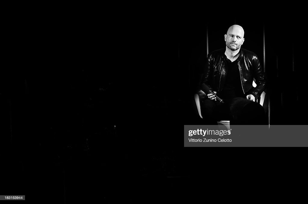Director <a gi-track='captionPersonalityLinkClicked' href=/galleries/search?phrase=Marc+Forster+-+Director&family=editorial&specificpeople=204746 ng-click='$event.stopPropagation()'>Marc Forster</a> attends a masterclass during the Zurich Film Festival 2013 on October 5, 2013 in Zurich, Switzerland.