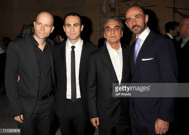 Director Marc Forster Khalid Abdalla Homayoun Ershadi and Shaun Toub at 'The Kite Runner' premiere at the Egyptian Theater on December 4 2007 in...