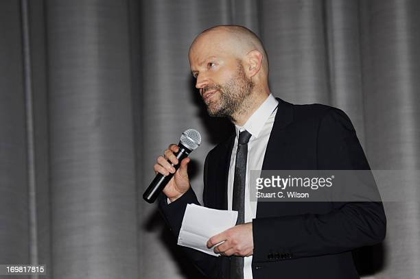 Director Marc Forster	speaks the World Premiere of 'World War Z' at The Empire Cinema on June 2 2013 in London England