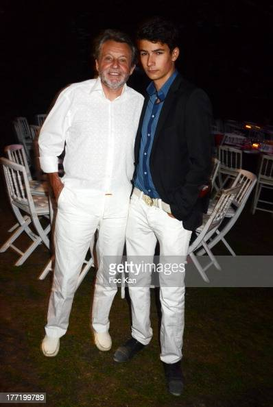 director Marc Klein and son Anthony Klein attend the Massimo Gargia's Birthday Dinner at Moulins de Ramatuelle on August 21 2013 in Saint Tropez...