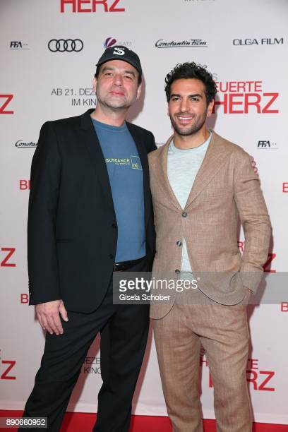 Director Marc Rothemund and Elyas M'Barek during the 'Dieses bescheuerte Herz' premiere at Mathaeser Filmpalast on December 11 2017 in Munich Germany
