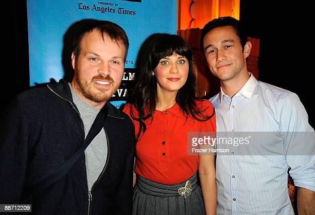 Director Marc Webb with actors Zooey Deschanel and Joseph GordonLevitt attend the 2009 Los Angeles Film Festival's screening of ' Days of Summer' at...
