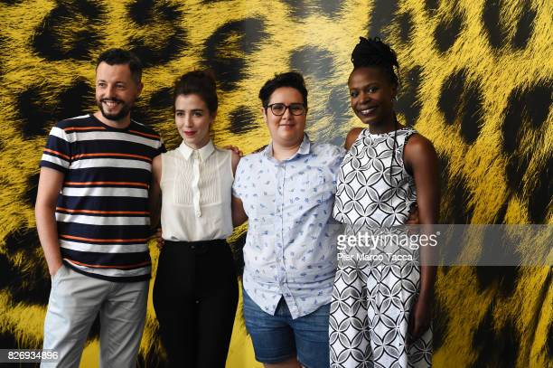 Director Marco Dutra Actress Isabel Zuaa Director Juliana Rojas and Marjorie Estiano attend 'As Boas Maneiras' photocall during the 70th Locarno Film...