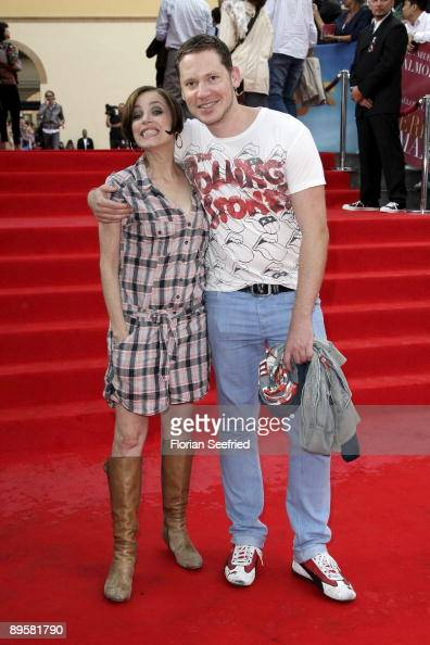 Director Marco Kreuzpaintner and actress Anna Thalbach attend the premiere of 'Los Abrazos Rotos' at cinema Kulturbrauerei on August 3 2009 in Berlin...