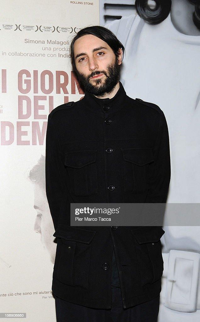 Director Marco Righi attends 'I Giorni della Vendemmia' photocall at Cinema Mexico on November 24, 2012 in Milan, Italy.
