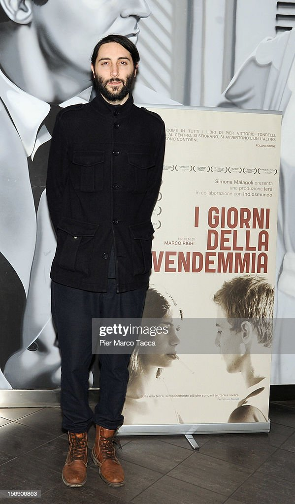 Director Marco Righi attends 'I Giorni della Vendemmia' photocall at Cinema Mexico on November 24, 2012 in Milan, Italy.