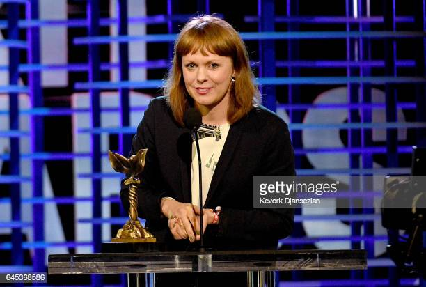 Director Maren Ade accepts the Best International Film award for 'Toni Erdmann' onstage during the 2017 Film Independent Spirit Awards at the Santa...
