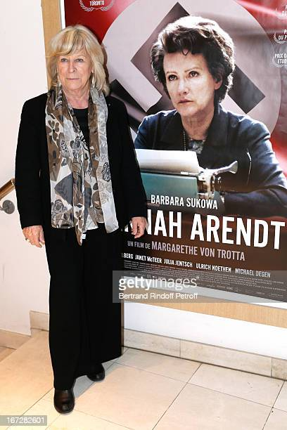 Director Margarethe Von Trotta attends 'Hannah Arendt' Paris movie Premiere held at Majestic Passy on April 23 2013 in Paris France