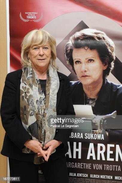 Director Margarethe Von Trotta attends 'Hannah Arendt' Premiere at Cinema Majestic Passy on April 23 2013 in Paris France