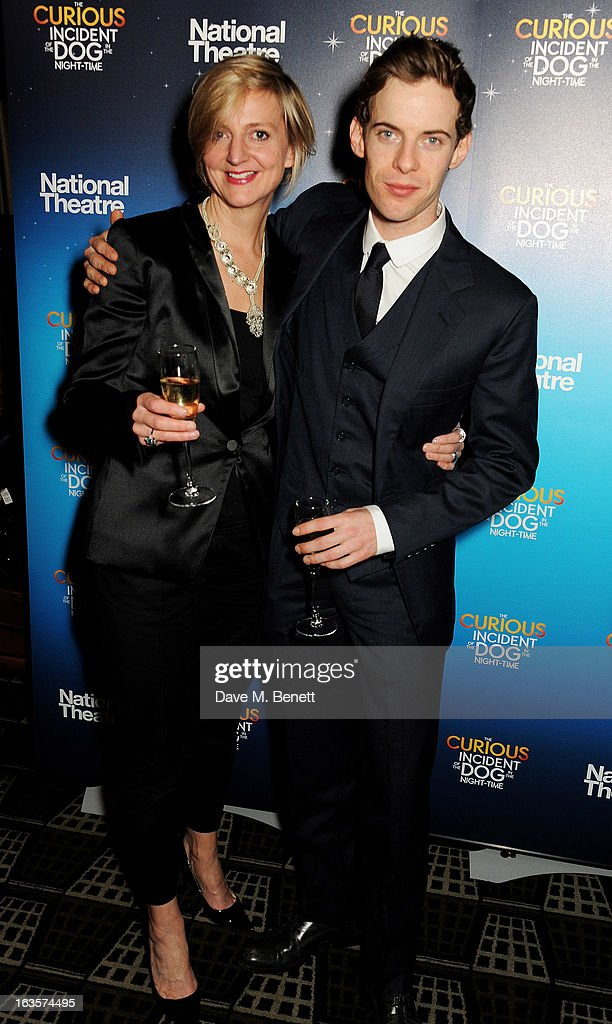 Director Marianne Elliott and actor Luke Treadaway attend an after party celebrating the press night performance of 'The Curious Incident of the Dog...