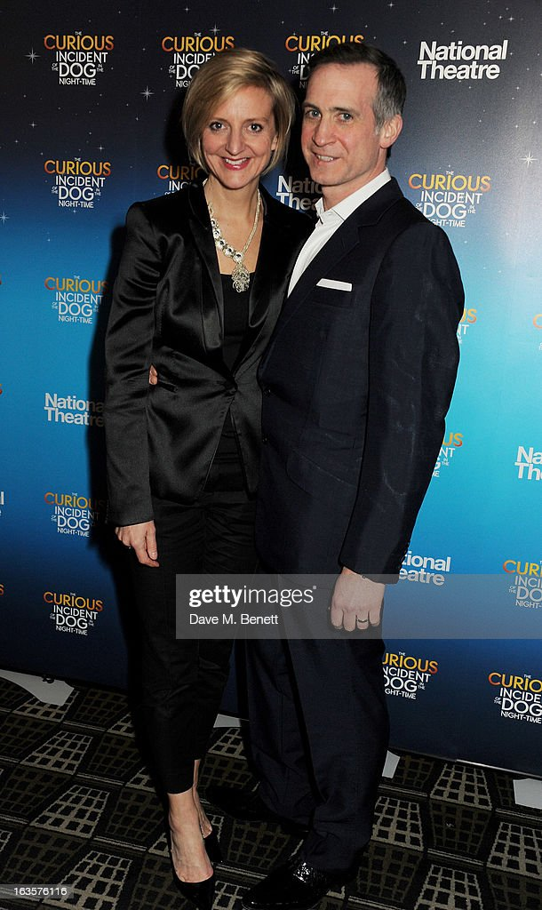 Director Marianne Elliott (L) and husband attend an after party celebrating the press night performance of 'The Curious Incident of the Dog in the Night-Time' at Century on March 12, 2013 in London, England.