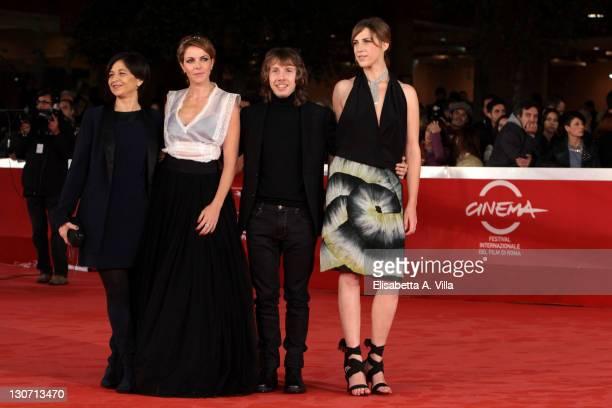 Director Marina Spada Claudia Gerini Enrico Bosco and Claudia Coli attend the 'Il Mio Domani' Premiere during the 6th International Rome Film...