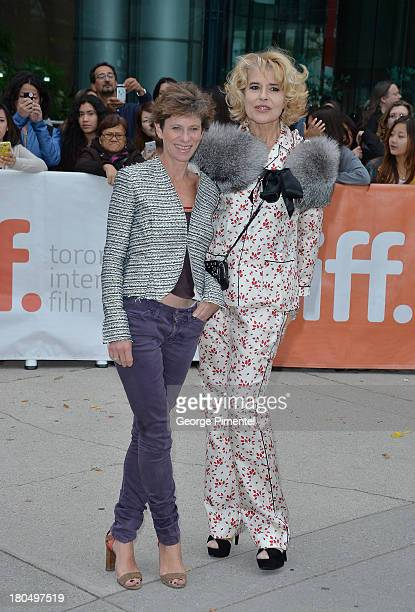 Director Marion Vernoux and actress Fanny Ardant arrive at the 'Bright Days Ahead' Premiere during the 2013 Toronto International Film Festival at...