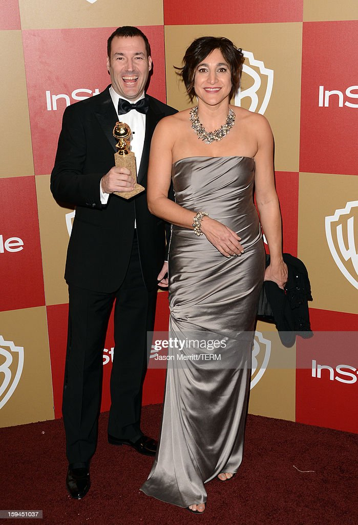 Director Mark Andrews (L), winner of Best Animated Film for 'Brave,' and guest attend the 14th Annual Warner Bros. And InStyle Golden Globe Awards After Party held at the Oasis Courtyard at the Beverly Hilton Hotel on January 13, 2013 in Beverly Hills, California.