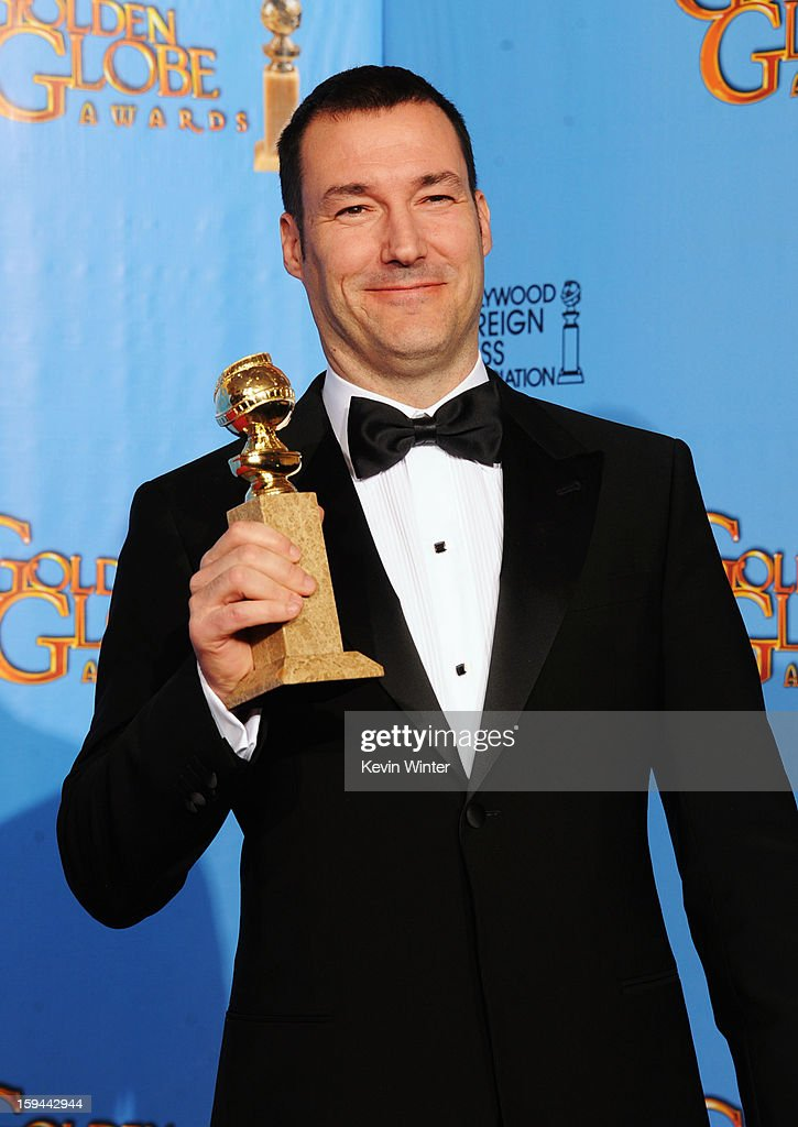 Director Mark Andrews, winner of Best Animated Film for 'Brave,' poses in the press room during the 70th Annual Golden Globe Awards held at The Beverly Hilton Hotel on January 13, 2013 in Beverly Hills, California.