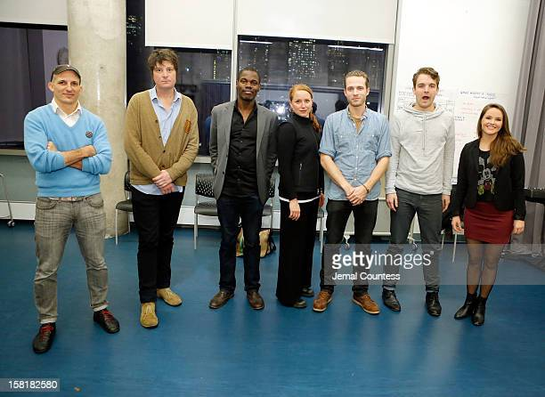 Director Mark Elijah Rosenberg with actors Christopher Evan Welch Stephen Tyrone Williams Jenna Stern David Call Micah Stock and Devin Dunne Cannon...